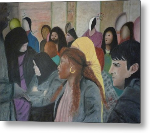Metaphysical Art Metal Print featuring the painting Enchantment by Ernesto Esposito