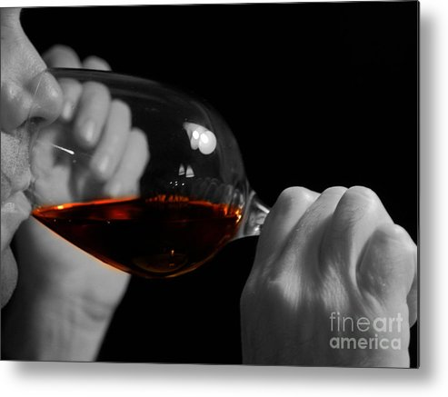 Beverage Metal Print featuring the photograph Enjoying Wine by Patricia Hofmeester