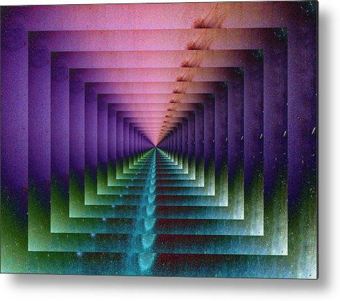 Graphic Metal Print featuring the photograph Erratic Portal by Tom Druin