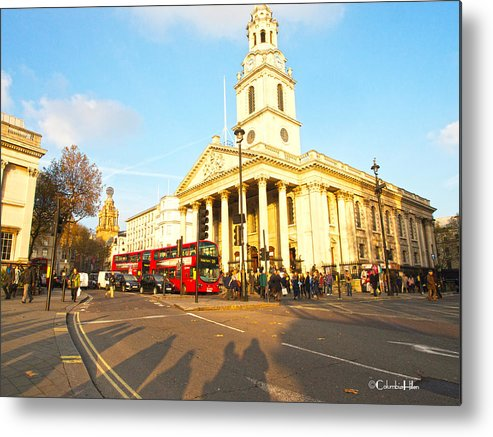 City Metal Print featuring the photograph Evening In London by Columbia Hillen
