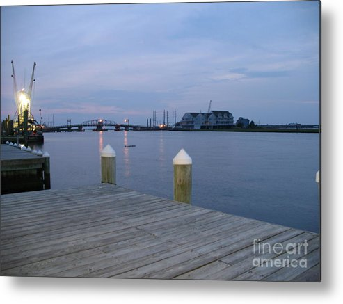 Evening Light Metal Print featuring the photograph Evening Light At Chincoteague Sound by Christiane Schulze Art And Photography