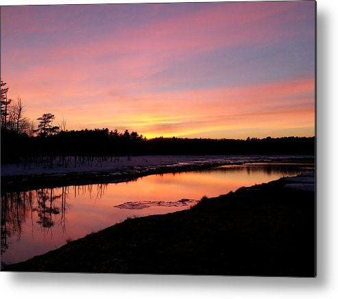 Nature Metal Print featuring the photograph Evening Serenity by Wendy Barrett