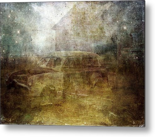 Iowa Metal Print featuring the digital art Fading Away by Cassie Peters