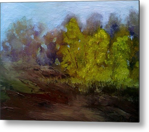 Landscape Metal Print featuring the painting Fall Color by Dwayne Gresham