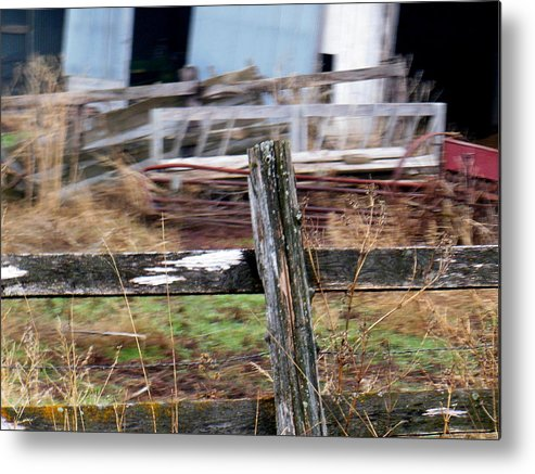 Fence Metal Print featuring the photograph Fencing In The Junk by Wild Thing