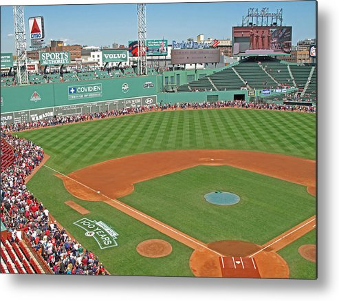 Fenway Park Metal Print featuring the photograph Fenway One Hundred Years by Barbara McDevitt