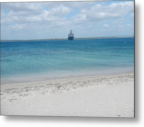 Guantanamo Bay Metal Print featuring the photograph Ferry Landing 17 by Christian Schroeder