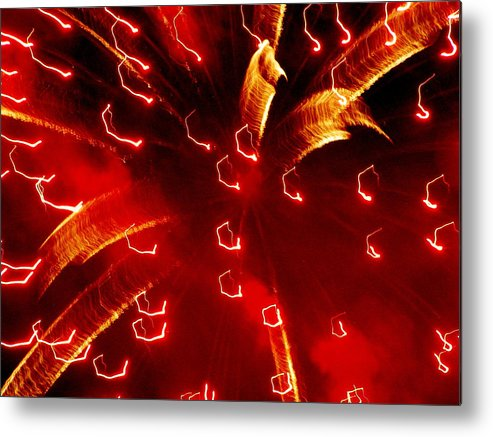 Metal Print featuring the photograph Fiery by Heather Farr