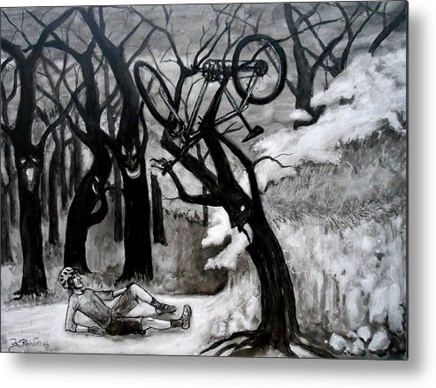 Bike Metal Print featuring the painting Finally Got You One Carl by Jason Reinhardt