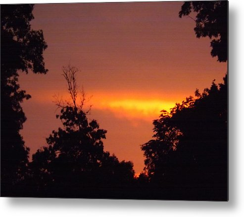 Sky Metal Print featuring the photograph Fire In The Sky by Micky and Paulette Evans