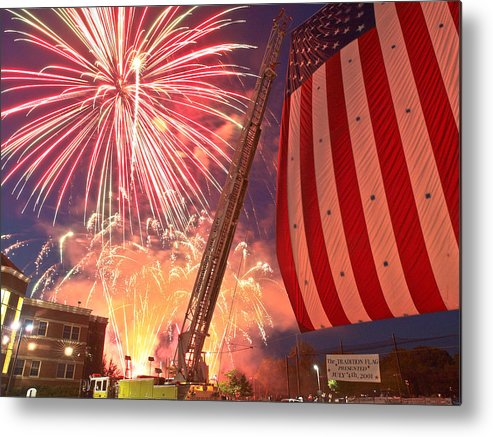 4th Metal Print featuring the photograph Fireworks by Jim DeLillo