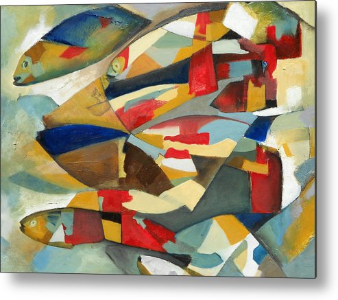 Fish Metal Print featuring the painting Fish 1 by Danielle Nelisse