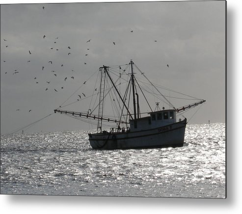 Georgia Metal Print featuring the photograph Fishing Boat by Jenny Fish