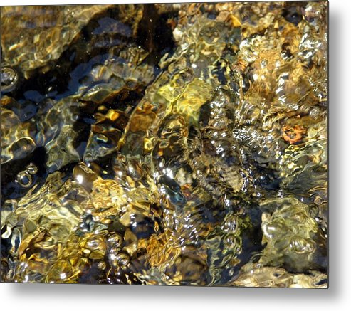 Flowing Gold Metal Print featuring the photograph Flowing Gold by Chris Gudger