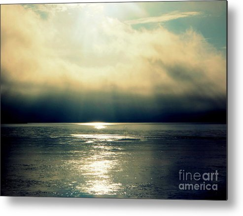 Fog Metal Print featuring the photograph Fog Bank by Jaunine Roberts