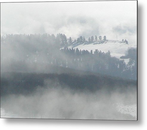 Metal Print featuring the photograph Foggy Morning by Heather Farr