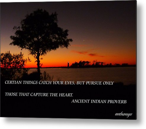 Metal Print featuring the photograph Follow Your Heart by Anthony Walker Sr
