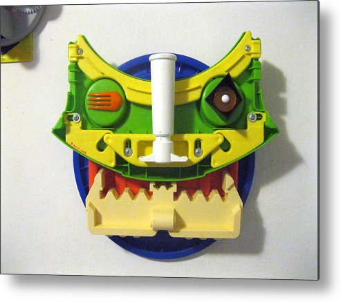 Original Sculpture Face From Plastic Found Objects Metal Print featuring the sculpture Foo Dog by Richard Kane