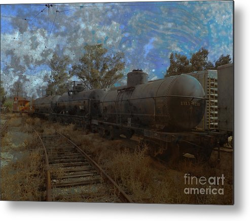 Train Yard Metal Print featuring the photograph Forgotten Yard by Robert Ball