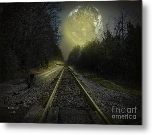 Mondelbulb Metal Print featuring the photograph Fractal Moon by Melissa Messick