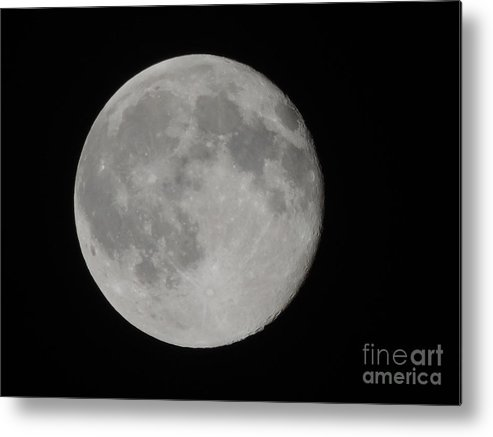 Full Moon Metal Print featuring the photograph Friday The 13th Full Moon by Luke George