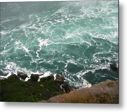 Waterfall Metal Print featuring the photograph From Above by Dervent Wiltshire