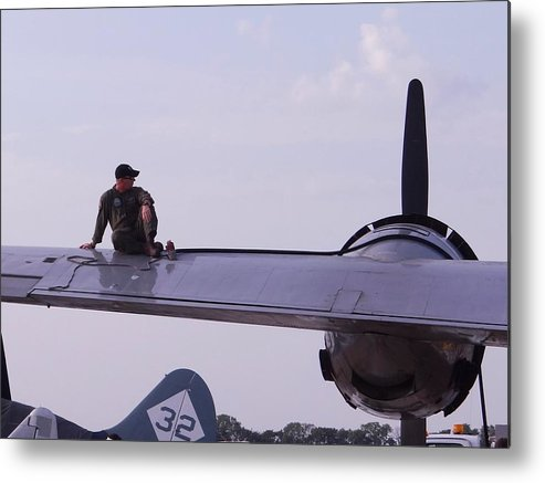 Superfortress Metal Print featuring the photograph Fueling The Superfortress by Keith Stokes