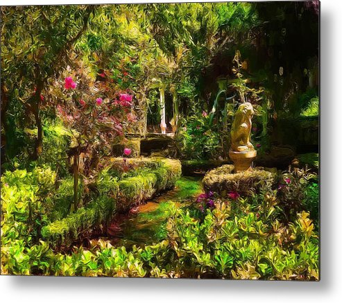 Gardens Metal Print featuring the digital art Garden Impressions by Cary Shapiro