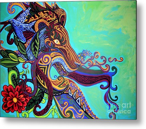 Lion Metal Print featuring the painting Gargoyle Lion 3 by Genevieve Esson