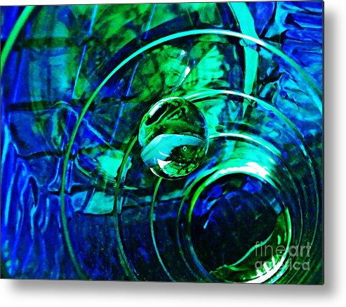Abstract Metal Print featuring the photograph Glass Abstract 477 by Sarah Loft