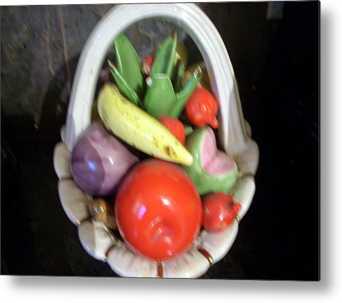 Canvas Metal Print featuring the digital art Glass Fruit Bowl by HollyWood Creation By linda zanini