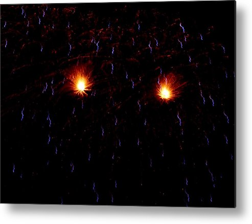 Metal Print featuring the photograph Glowing Eyes by Heather Farr