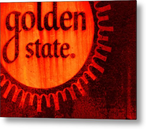 Americana Metal Print featuring the painting Golden State #2 by Michael Jewel Haley