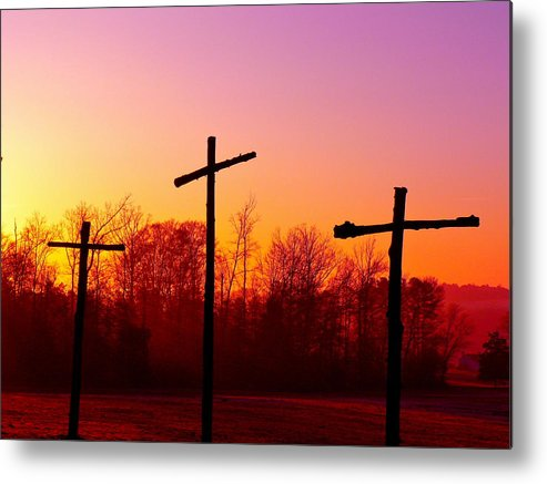 Cross Metal Print featuring the photograph Good Friday by Jean Wright
