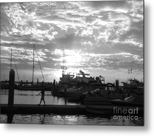 Clouds Metal Print featuring the photograph Harbour Clouds by WaLdEmAr BoRrErO