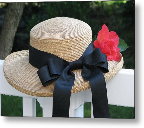 Hats Metal Print featuring the photograph Hats Off To Summer by Angela Davies