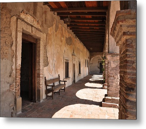 California Missions Metal Print featuring the photograph He Shall Rise Again, Mission San Juan Capistrano, California by Denise Strahm