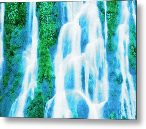 Waterfall Metal Print featuring the digital art Heavenly Veil by Lyriel Lyra