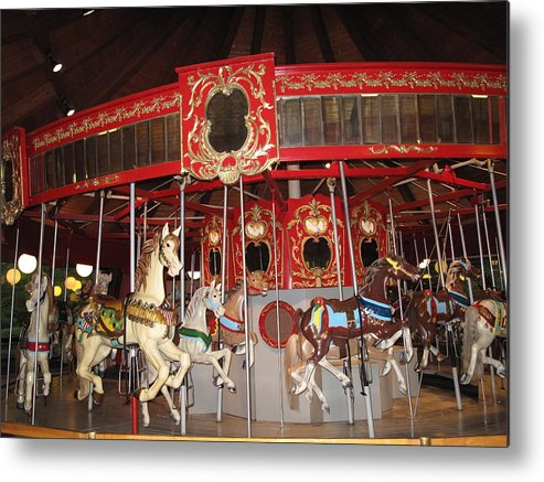 Carousel Metal Print featuring the photograph Heritage Looff Carousel by Barbara McDevitt
