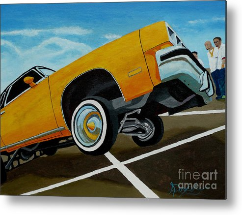 Chevy Metal Print featuring the painting Hip Hoppin Chevy by Anthony Dunphy