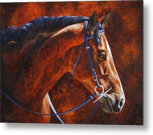 Horse Metal Print featuring the painting Horse Painting - Ziggy by Crista Forest