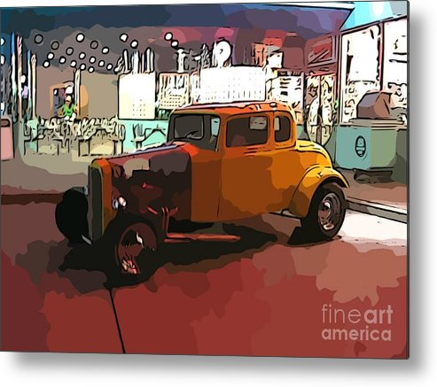 Hot Rod Icon Metal Print featuring the photograph Hot Rod Icon by John Malone