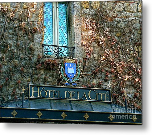 French Metal Print featuring the photograph Hotel De La Cite by France Art