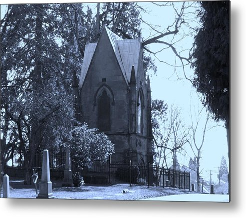 Cemetery Metal Print featuring the photograph House Of Corpses by Heather L Wright