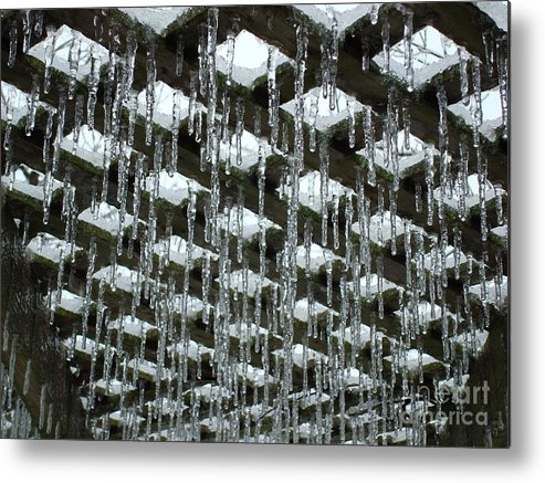 Ice Sickles Metal Print featuring the photograph Ice Sickles by Laura DeCamp