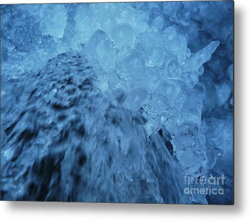 Eis Metal Print featuring the photograph Icefall by Fabian Roessler