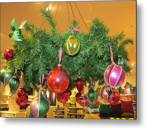 Christmas Blingbling Christmas Metal Print featuring the photograph In The Designstore by Rosita Larsson