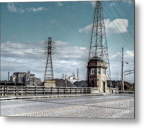 Mj Olsen Metal Print featuring the photograph Industrial Detroit by MJ Olsen