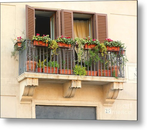 Balcony Metal Print featuring the photograph Italian Balcony by Penny Knapp
