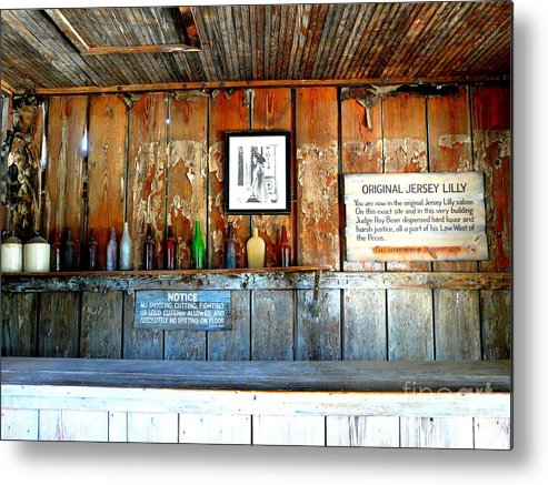 Jersey Lilly Saloon Metal Print featuring the photograph Jersey Lilly Saloon by Avis Noelle